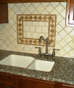 Oak and Stone Flooring, Backsplash, Alloway NJ