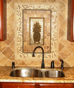 Oak and Stone Flooring, Sonoma Pineapple Backsplash