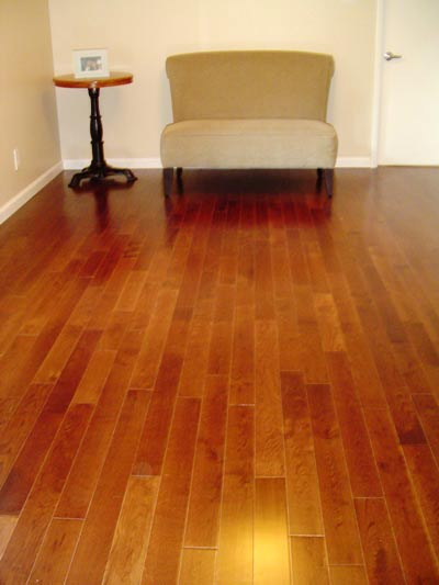 3 1/4 inch hardwood laid vertical in sitting room