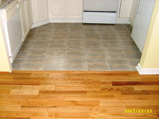 A smooth transition into the new 12 inch ceramic tile