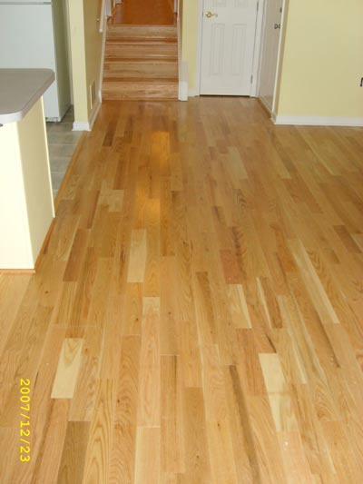 Mirage Hardwood running vertical the length of the great room