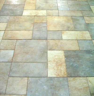 3 sizes of ceramic tile in varied colors