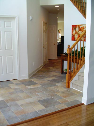 Foyer ceramic tile flooring remodeling pictures and ideas for Foyer flooring ideas