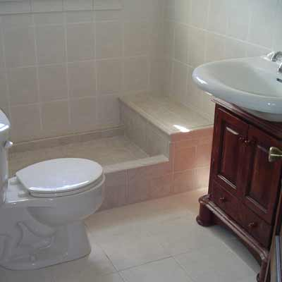 Bathroom Tiles Nj tile bathroom, wildwood, nj : oak and stone flooring, south jersey